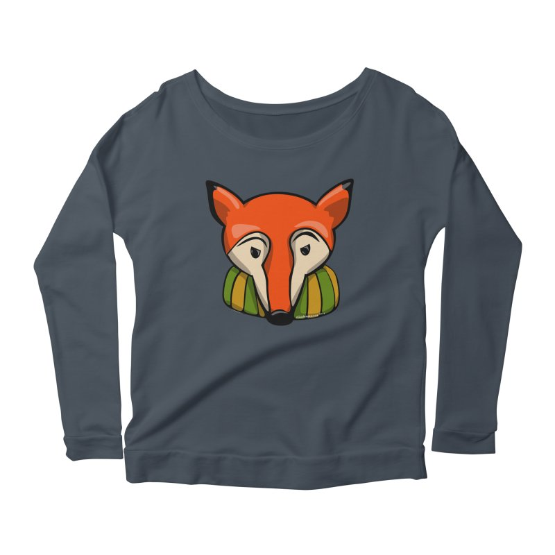 Foxy Women's Scoop Neck Longsleeve T-Shirt by elledeegee's Artist Shop