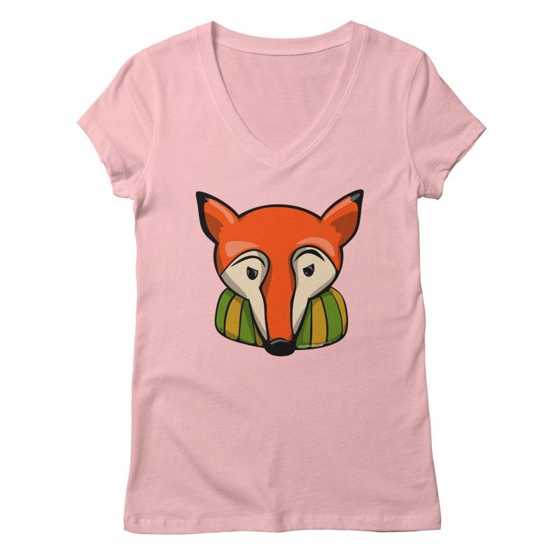 Foxy Women's Regular V-Neck by elledeegee's Artist Shop