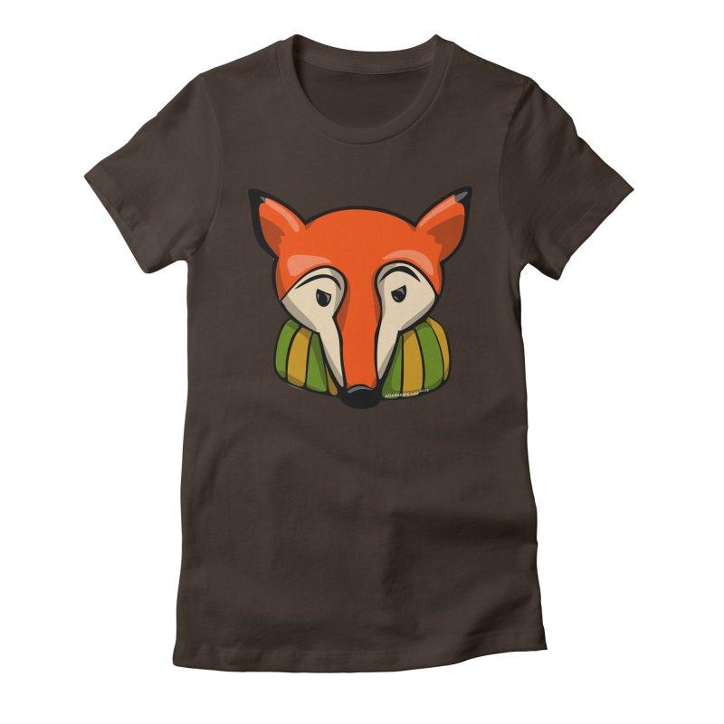 Foxy Women's Fitted T-Shirt by elledeegee's Artist Shop