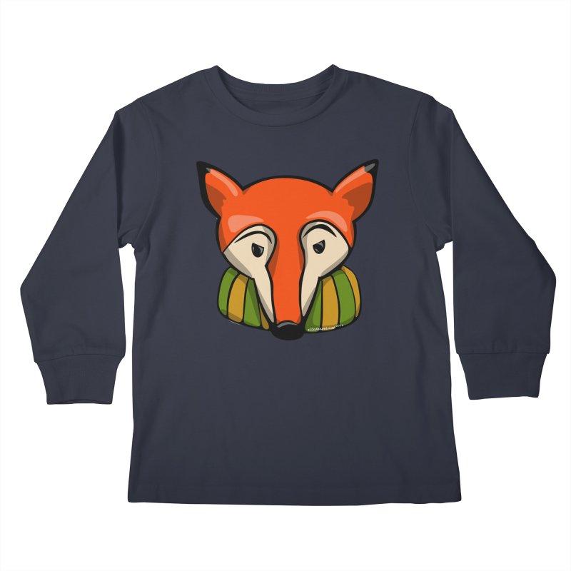 Foxy Kids Longsleeve T-Shirt by elledeegee's Artist Shop