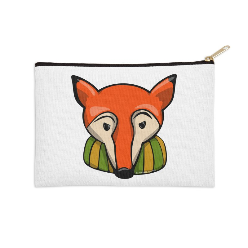 Foxy Accessories Zip Pouch by elledeegee's Artist Shop