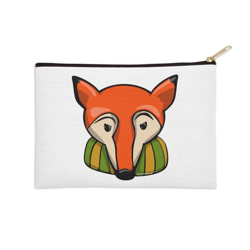 Foxy Accessories Zip Pouch by elledeegee's Artist Shop