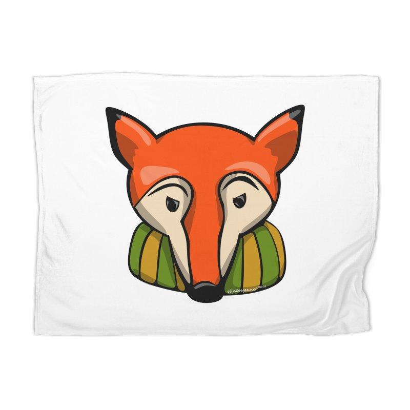 Foxy Home Blanket by elledeegee's Artist Shop