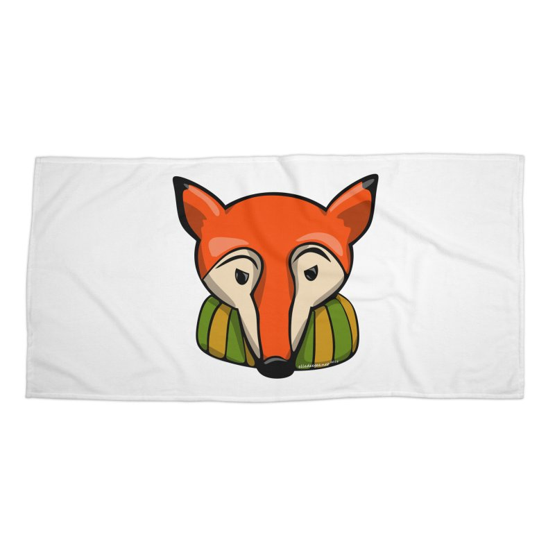 Foxy Accessories Beach Towel by elledeegee's Artist Shop