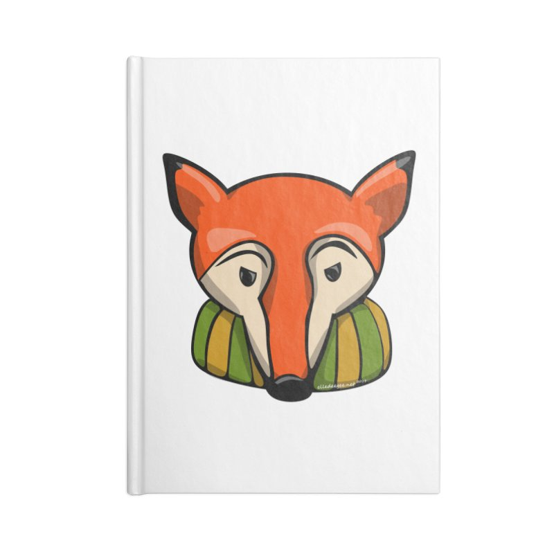 Foxy Accessories Blank Journal Notebook by elledeegee's Artist Shop