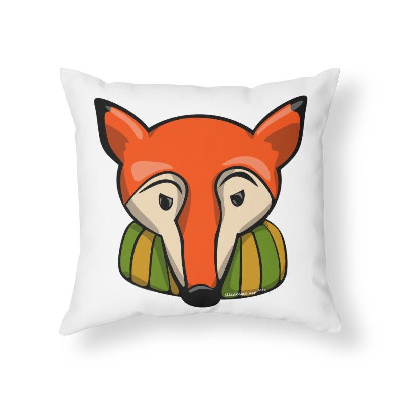 Foxy Home Throw Pillow by elledeegee's Artist Shop