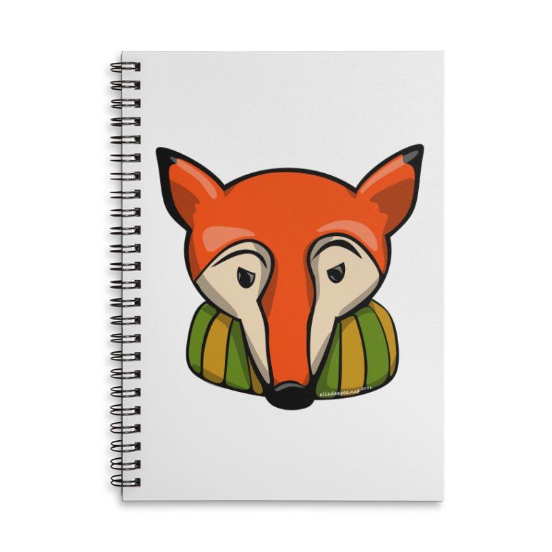 Foxy Accessories Lined Spiral Notebook by elledeegee's Artist Shop