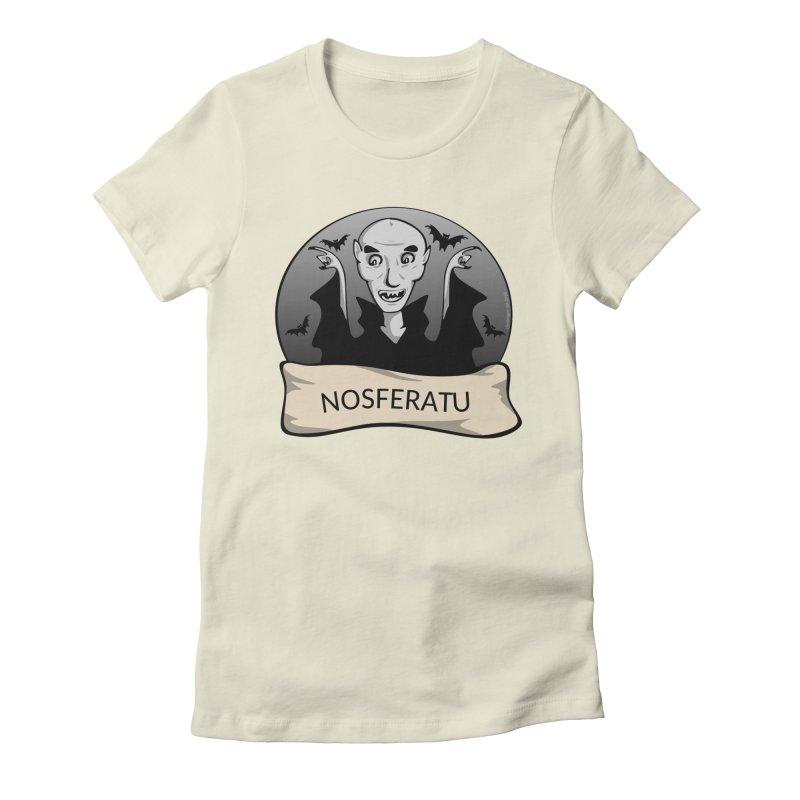 Nosferatu Women's Fitted T-Shirt by elledeegee's Artist Shop