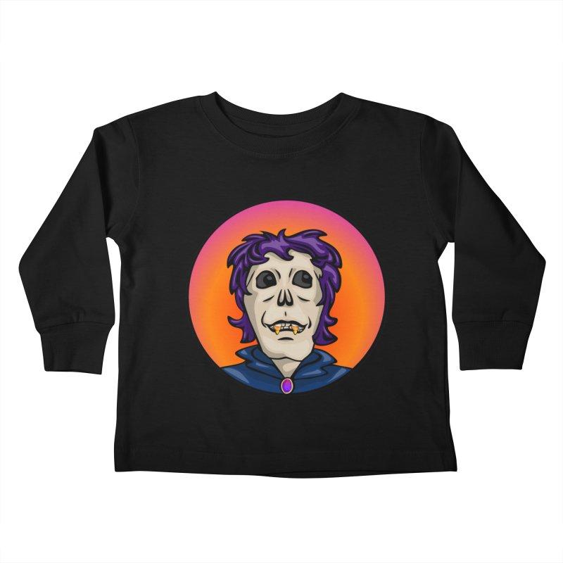 Candy Corn Zombie Vamp Kids Toddler Longsleeve T-Shirt by elledeegee's Artist Shop
