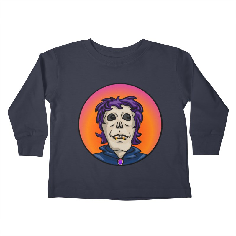 Candy Corn Zombie Vamp Kids Toddler Longsleeve T-Shirt by elledeegee's Artist Shop