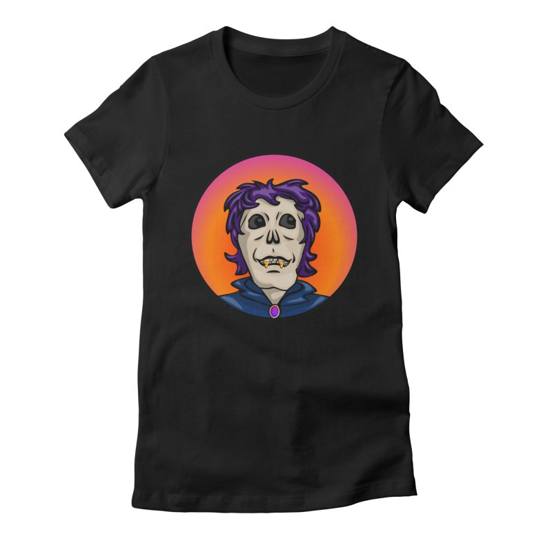 Candy Corn Zombie Vamp Women's Fitted T-Shirt by elledeegee's Artist Shop