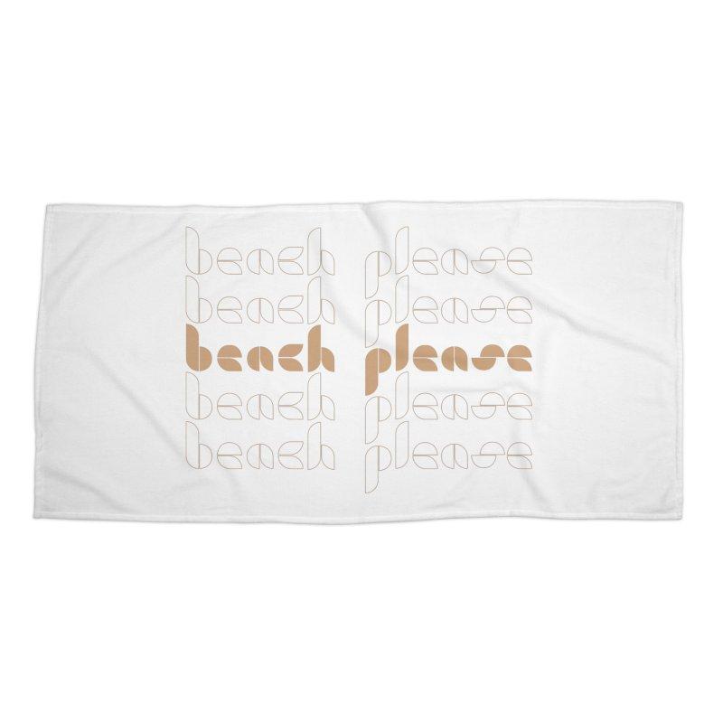 Beach Please Accessories Beach Towel by Ellemsee Media's Artist Shop
