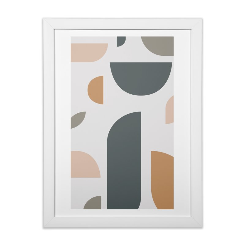 Pi Piece in Framed Fine Art Print White by Ellemsee Media's Artist Shop