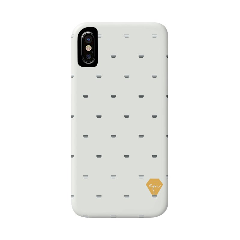 Full of Ideas - White in iPhone X / XS Phone Case Slim by Ellemsee Media's Artist Shop
