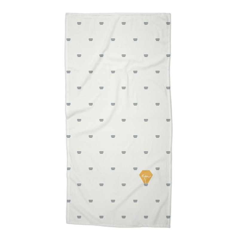 Full of Ideas - White Accessories Beach Towel by Ellemsee Media's Artist Shop
