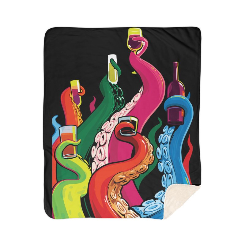 Tentacle Cluster Home Sherpa Blanket Blanket by ellingson's Artist Shop