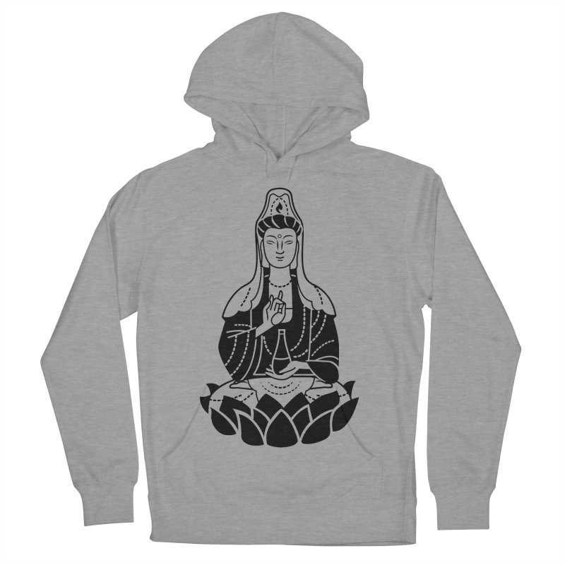 Quan Yin Women's French Terry Pullover Hoody by ellingson's Artist Shop