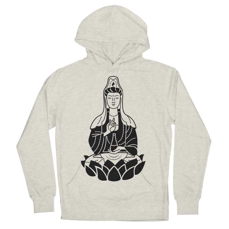 Quan Yin Men's French Terry Pullover Hoody by ellingson's Artist Shop