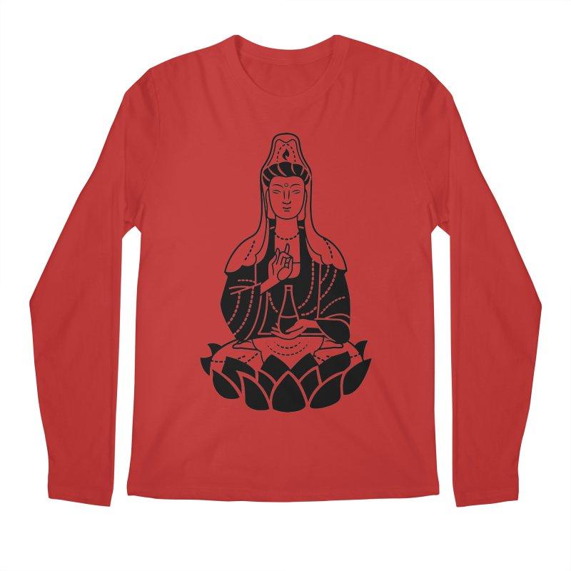 Quan Yin Men's Regular Longsleeve T-Shirt by ellingson's Artist Shop