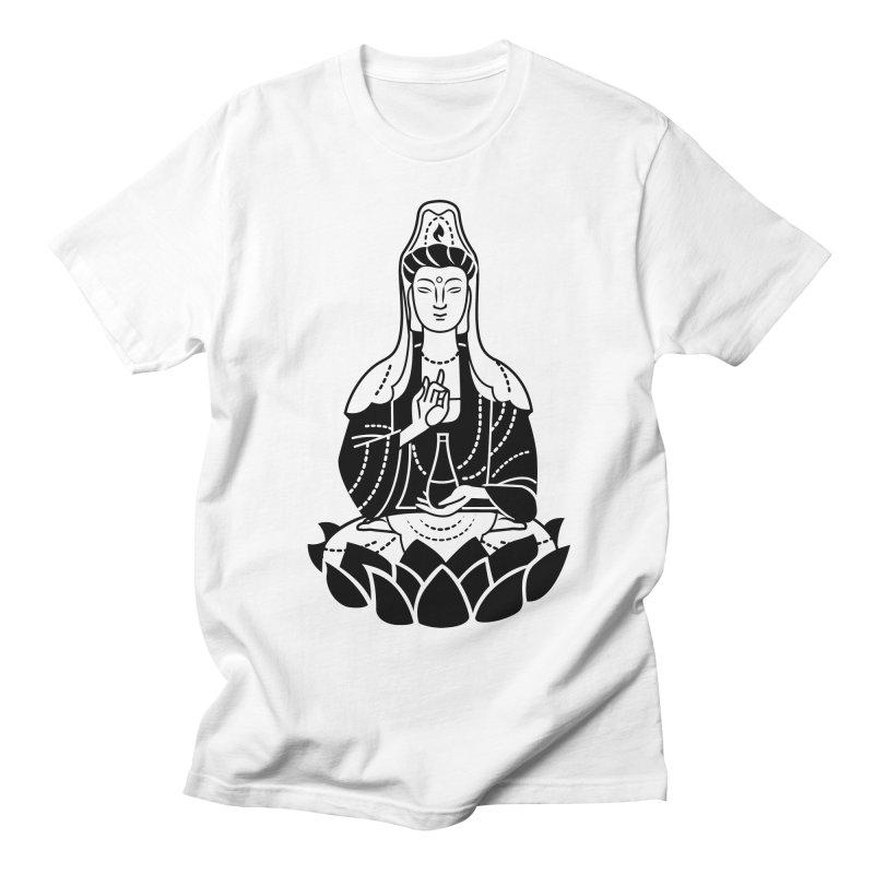 Quan Yin Men's Regular T-Shirt by ellingson's Artist Shop