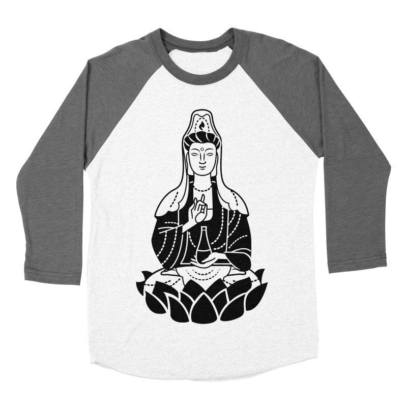 Quan Yin Men's Baseball Triblend Longsleeve T-Shirt by ellingson's Artist Shop