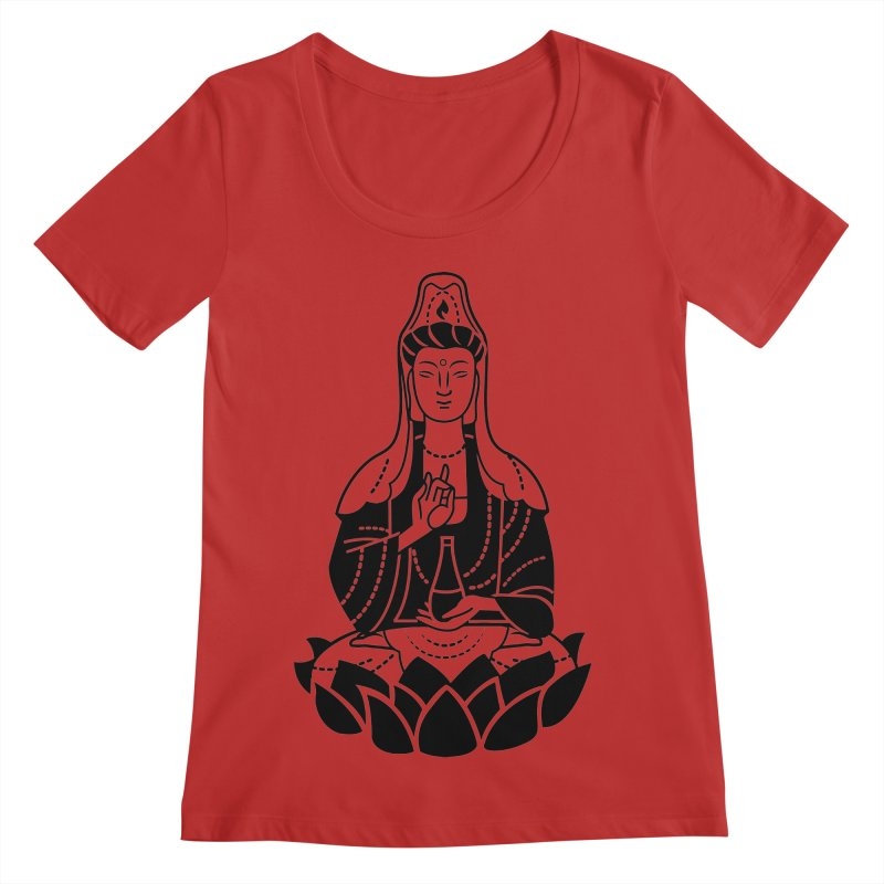 Quan Yin Women's Regular Scoop Neck by ellingson's Artist Shop