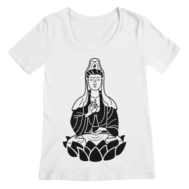 Quan Yin Women's Regular Scoop Neck by ellingson's Artist Shop