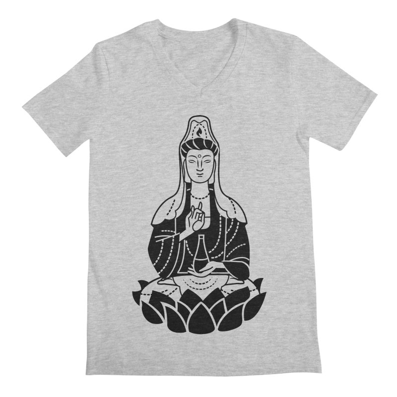 Quan Yin Men's Regular V-Neck by ellingson's Artist Shop