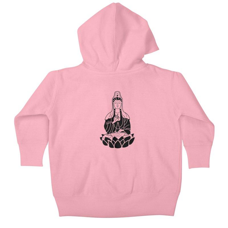 Quan Yin Kids Baby Zip-Up Hoody by ellingson's Artist Shop