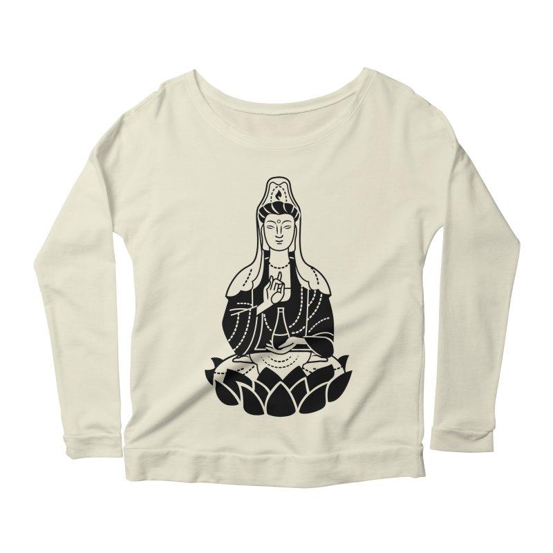 Quan Yin Women's Scoop Neck Longsleeve T-Shirt by ellingson's Artist Shop