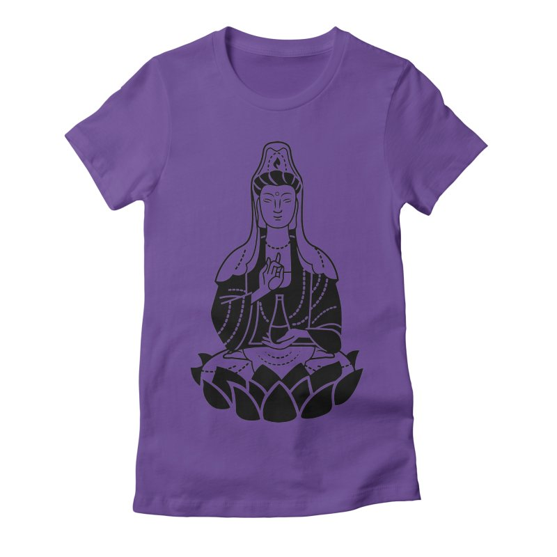 Quan Yin Women's Fitted T-Shirt by ellingson's Artist Shop
