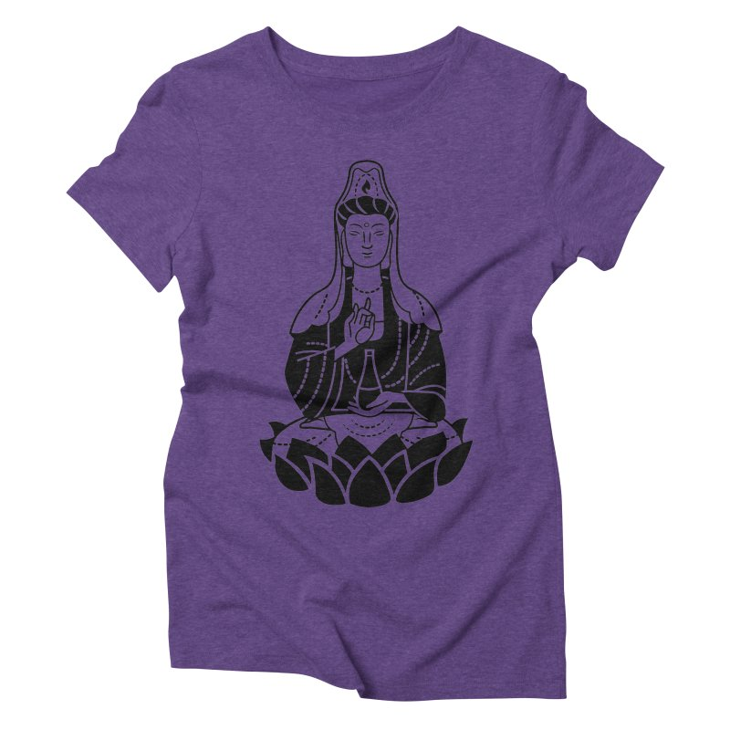 Quan Yin Women's Triblend T-Shirt by ellingson's Artist Shop