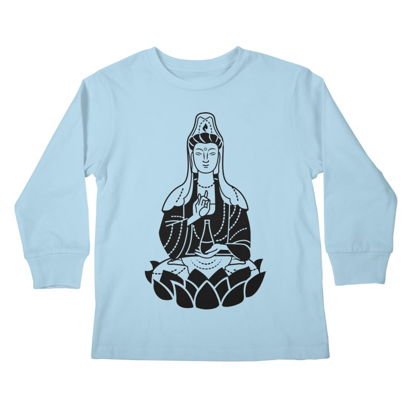 Quan Yin Kids Longsleeve T-Shirt by ellingson's Artist Shop