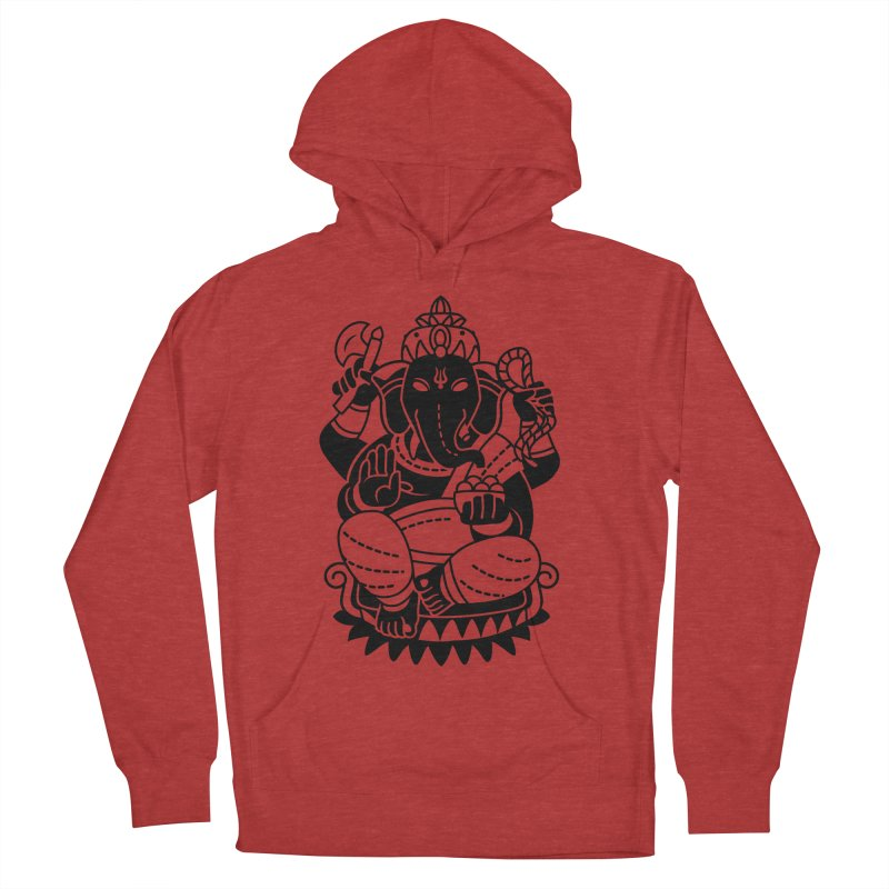 Ganesh Men's French Terry Pullover Hoody by ellingson's Artist Shop