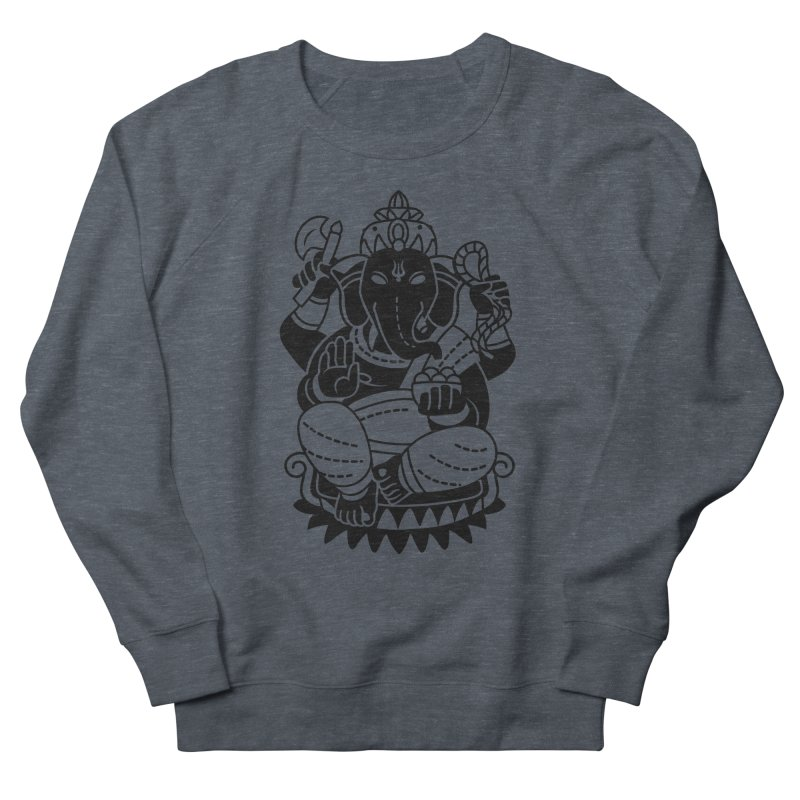 Ganesh Men's French Terry Sweatshirt by ellingson's Artist Shop