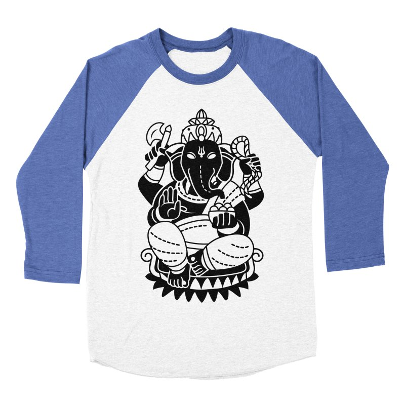 Ganesh Women's Baseball Triblend Longsleeve T-Shirt by ellingson's Artist Shop