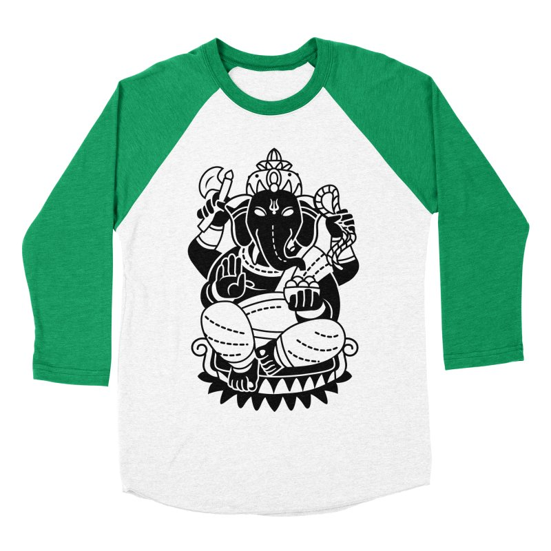 Ganesh Women's Baseball Triblend Longsleeve T-Shirt by ellingson's Artist Shop