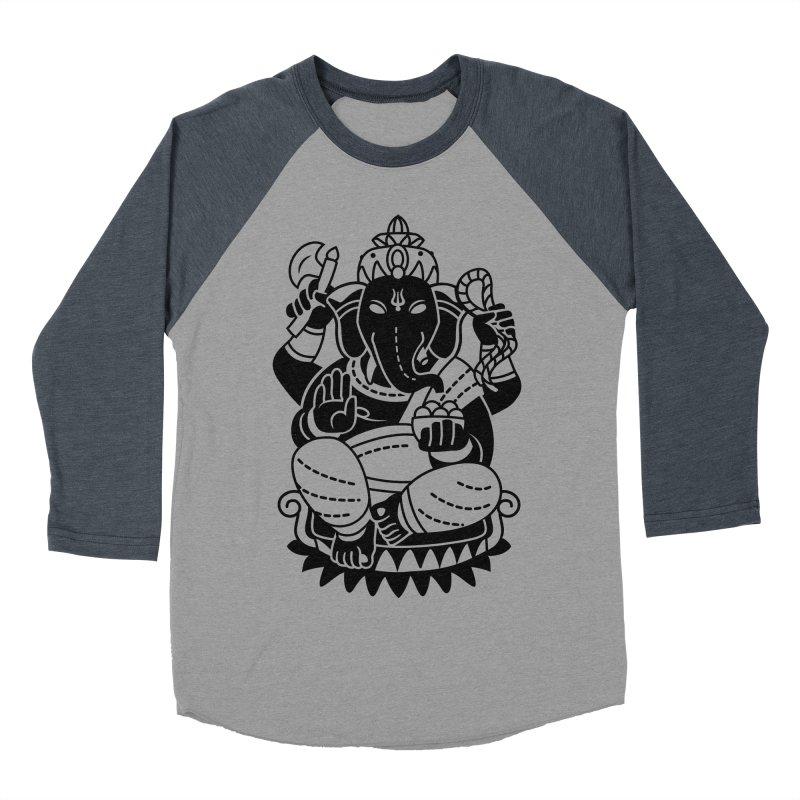 Ganesh Men's Baseball Triblend Longsleeve T-Shirt by ellingson's Artist Shop