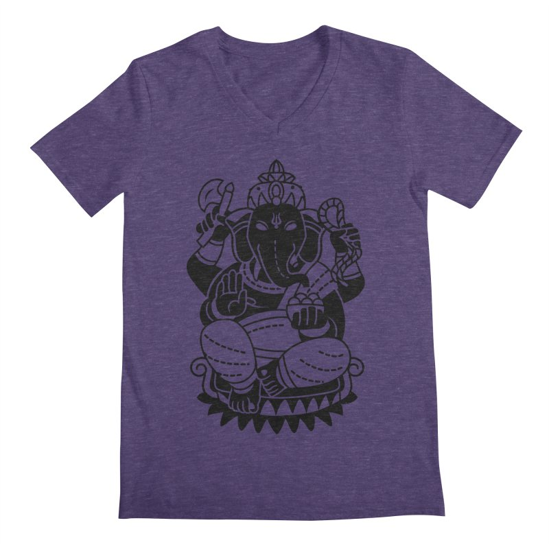Ganesh Men's Regular V-Neck by ellingson's Artist Shop