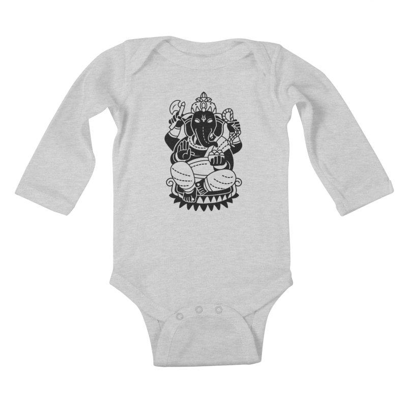 Ganesh Kids Baby Longsleeve Bodysuit by ellingson's Artist Shop