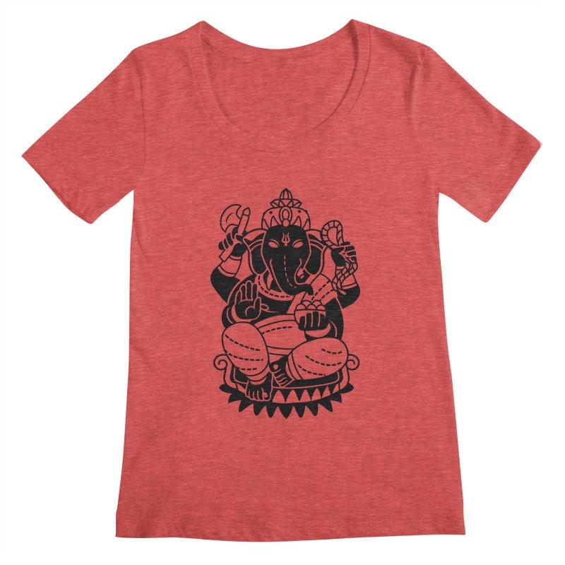 Ganesh Women's Regular Scoop Neck by ellingson's Artist Shop