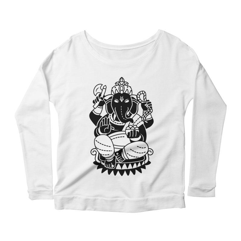 Ganesh Women's Scoop Neck Longsleeve T-Shirt by ellingson's Artist Shop