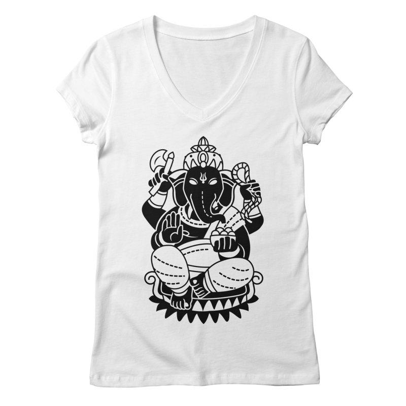 Ganesh Women's Regular V-Neck by ellingson's Artist Shop