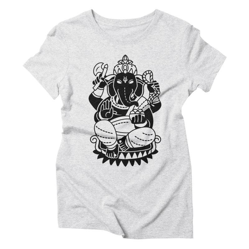Ganesh Women's Triblend T-Shirt by ellingson's Artist Shop