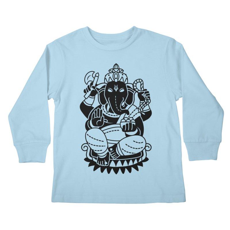 Ganesh Kids Longsleeve T-Shirt by ellingson's Artist Shop
