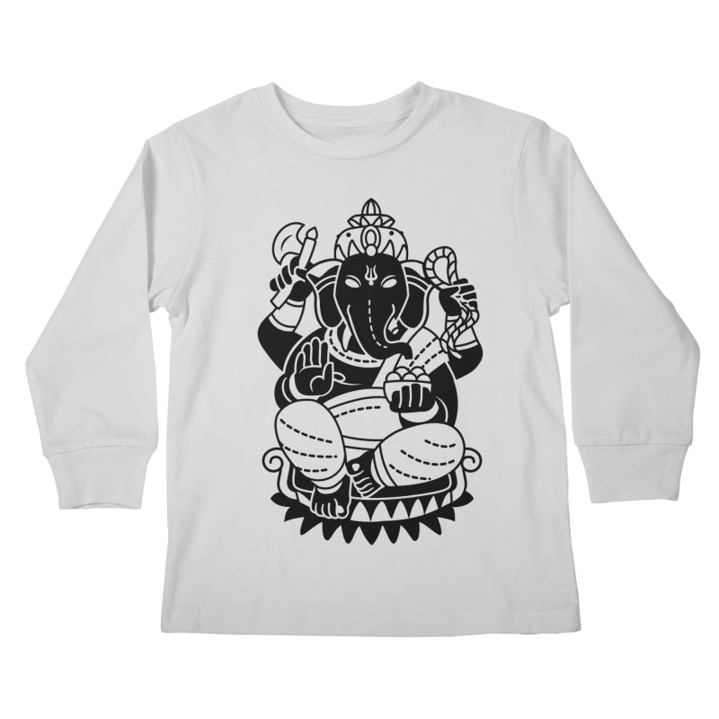 Ganesh Kids Longsleeve T-Shirt by ellingson's Artist Shop