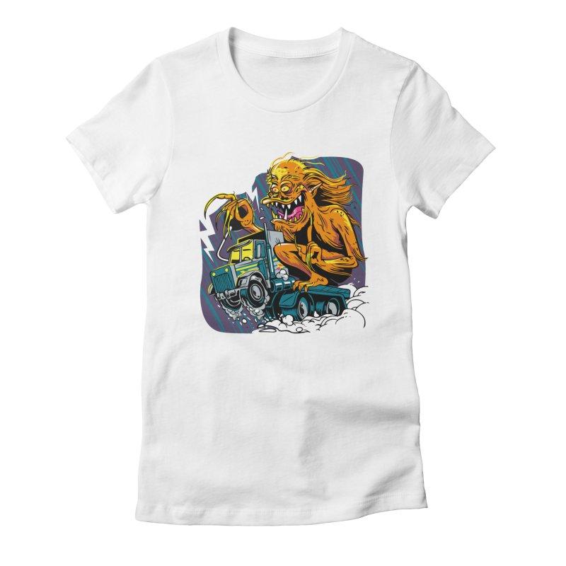 Porkchop Express Women's Fitted T-Shirt by ellingson's Artist Shop