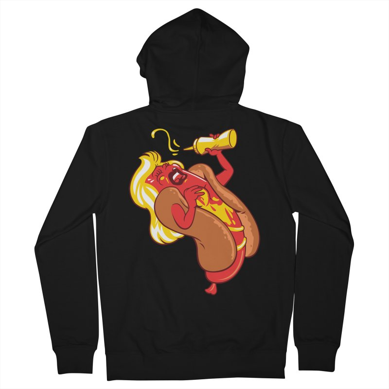 HOT DOG! Women's French Terry Zip-Up Hoody by ellingson's Artist Shop