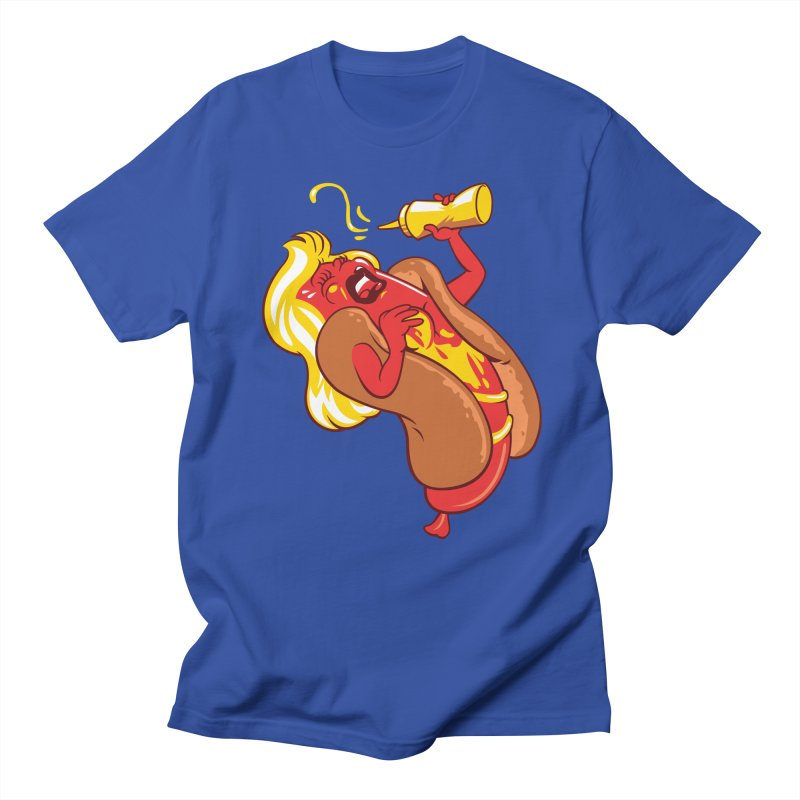 HOT DOG! in Men's T-shirt Royal Blue by ellingson's Artist Shop
