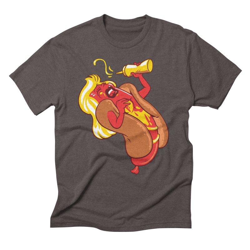 HOT DOG! Men's Triblend T-Shirt by ellingson's Artist Shop
